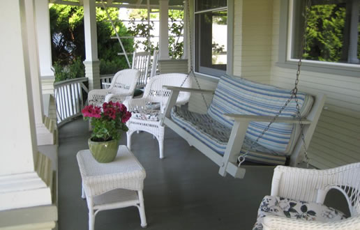 Wrap-around porch